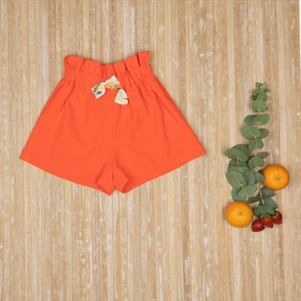 SHORT NARANJA CINTURON FRUITS.